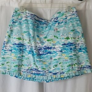Lilly Pulitzer toile skirt